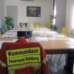 Im Seminarraum werden die fachkundige Unterweisung für die Brandschutzhelfer der Firma RINGHOFFER statt.